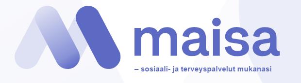 """Maisa-portaalin logo. """"sosiaali- ja terveyspalvelut mukanasi"""""""
