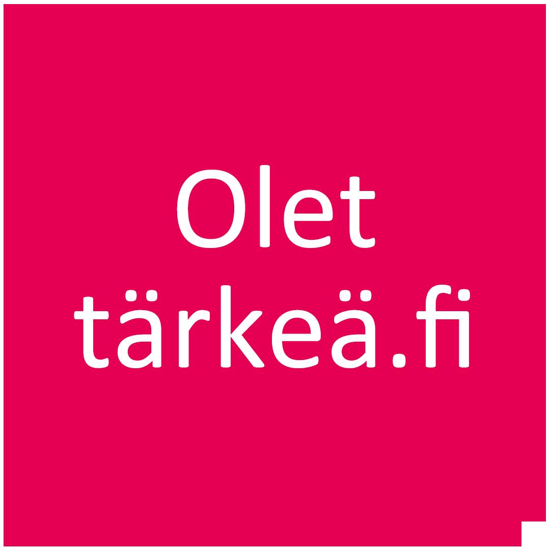 Olet Tärkeä .fi -sivuston logo.