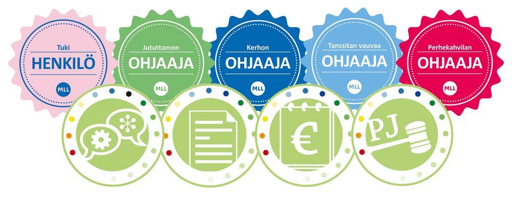 Digitaalisia osaamismerkkejä on mahdollista saada monista eri vapaaehtoistehtävistä ja yhdistystehtävistä.