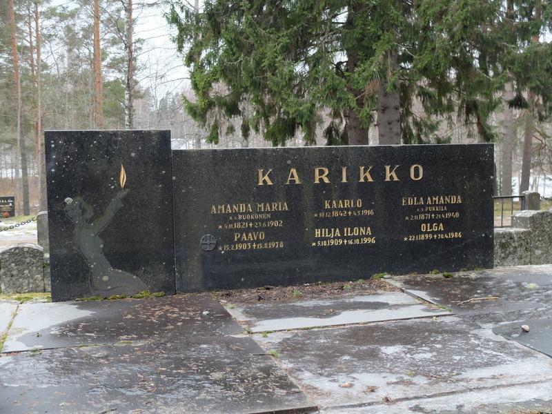 Olgan ja Paavon haudat, Keuruun hautausmaa