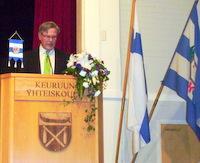 Juhlapuhuja Risto Nieminen,  Olympiakomitean puheenjohtaja