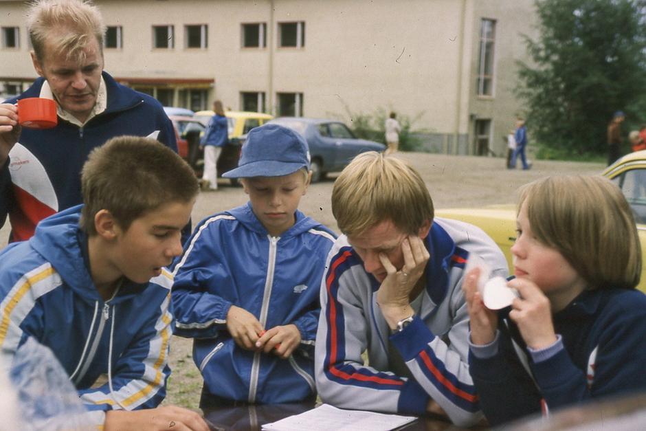 Mika Kulmala, Markku Järvinen ja Heli Nokelainen 1981 - Kuvat:  Matti Saarinen -