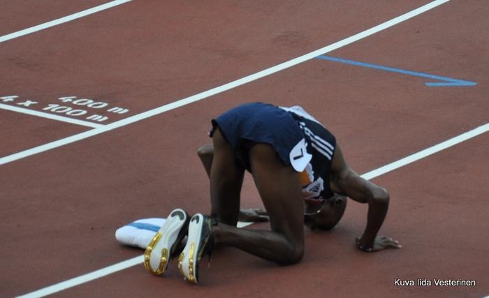 Miesten 5000 metrin voittaja Mo Farah