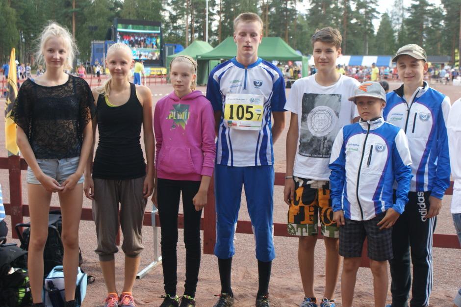 KeuKi Nuorten Jukola-joukkue 2014.