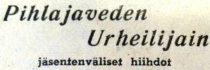 Talvi 1953 Pihlajavedellä