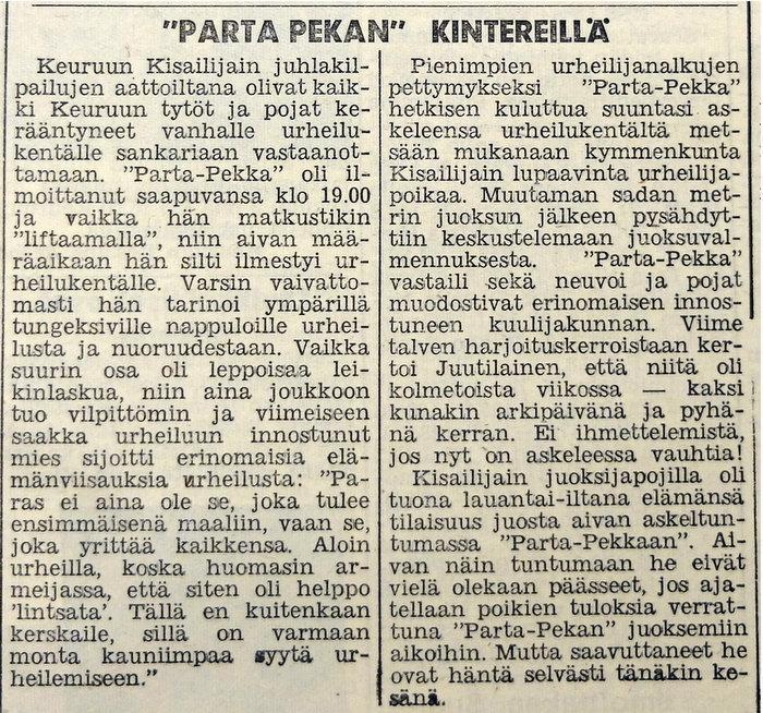 Parta-Pekan kintereillä 1964
