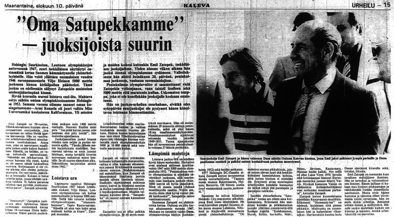 Toimittaja Jouko Vuorjoen juttu Kalevassa 10.8.1981