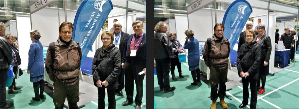 Senioriliitto -piiri ja yhdistykset olivat mukana Pohjanmaan suurmessuilla 2019.