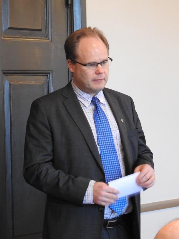 Kaupunginjohtaja Tero Nissinen kertoi Kemin kapungin tämän hetken tilanteesta ja tulevaisuuden näkemyksistä 2.11.2016 Kuva: ©S. Mäkitalo