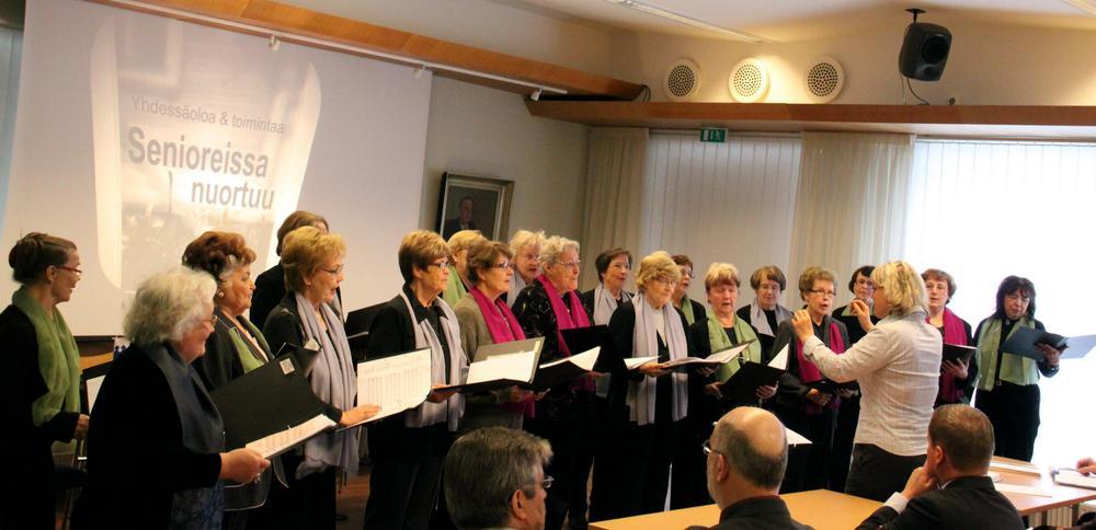 Katajaiset ovat suosittu siintyjäryhmä. Tässä laulu soi Pirkanmaan piirin kevätkokouksessa 10.3.2009 Laulajien majalla Tampereella.