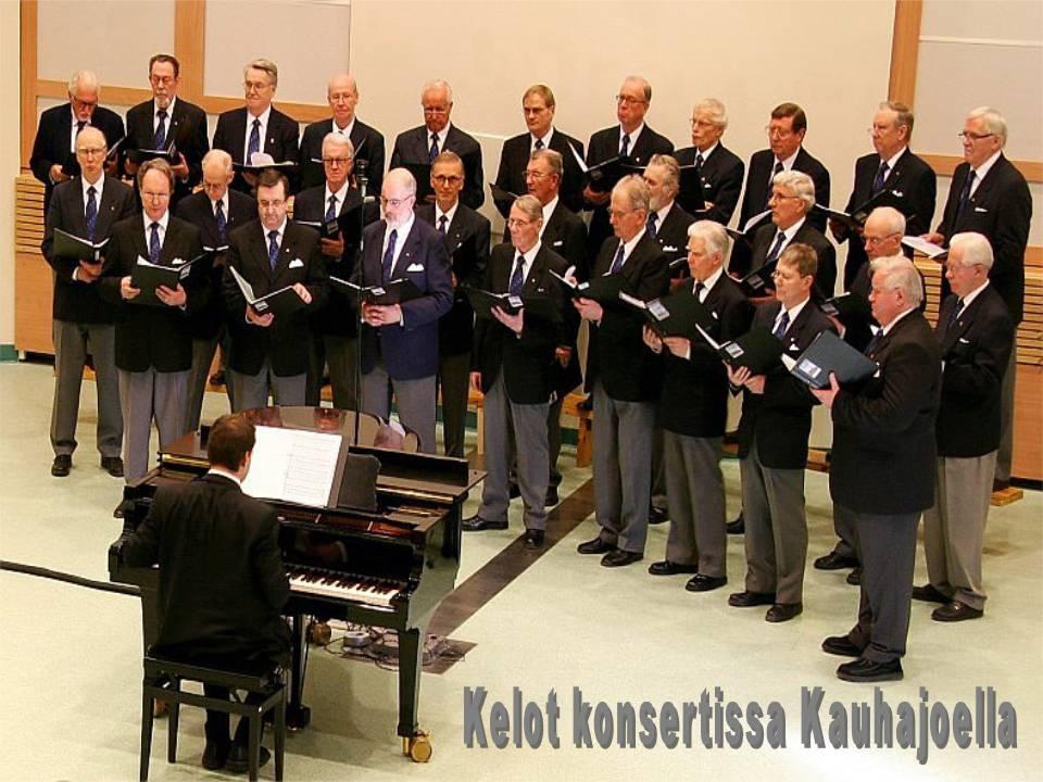 Vuosi oli 2008. Kuoronjohtajana Lasse Kautto. Kuvaaja tuntematon.