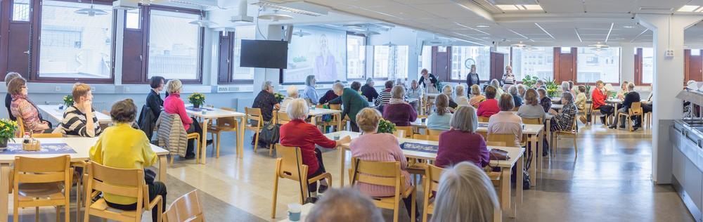 Taksen torstaikahvit järjestetään Tapiolan palvelukeskuksen valoisissa tiloissa.