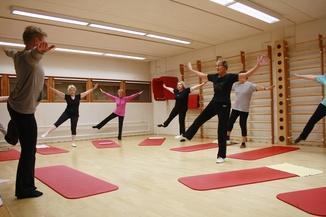 Pilates-ryhmä keväällä2015 Kuva: Marianne Kiesi