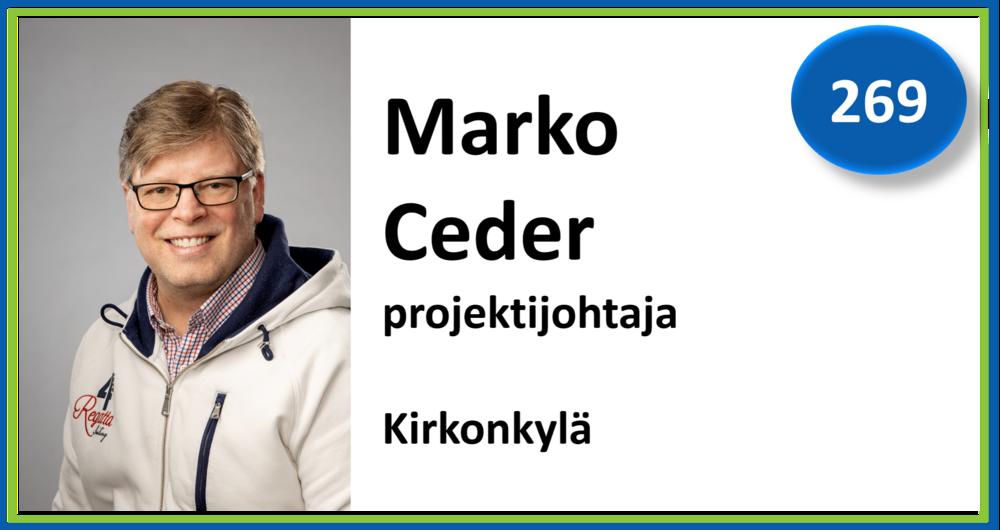 269, Marko Ceder, projektijohtaja, Kirkonkylä