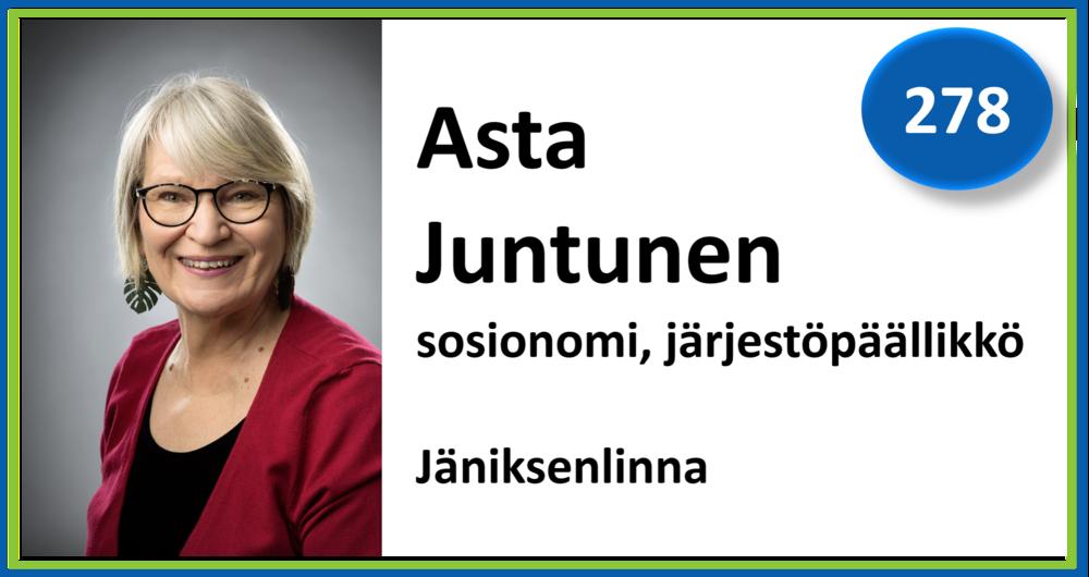 278, Asta Juntunen, sosionomi, järjestöpäällikkö, Jäniksenlinna