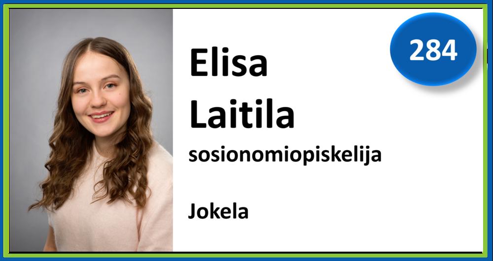 284, Elisa Laitila, sosionomiopiskelija, Jokela