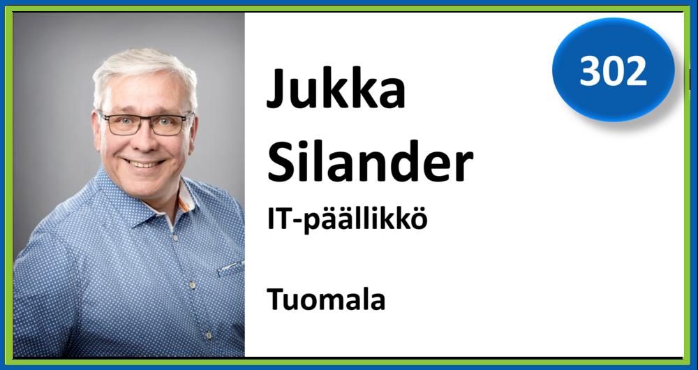 302, Jukka Silander, IT-päällikkö, Tuomala