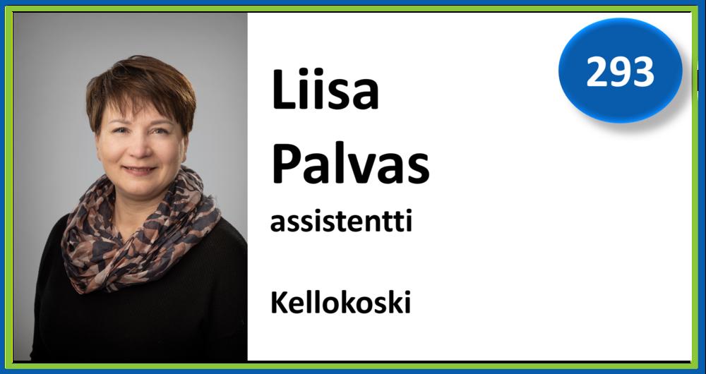 293, Liisa Palvas, assistentti, Kellokoski