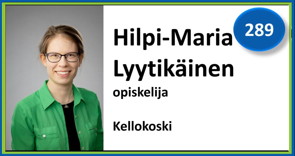 289, Hilpi-Maria Lyytikäinen, opiskelija, Kellokoski