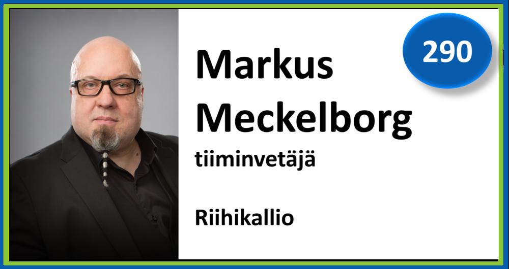 290, Markus Meckelborg, tiiminvetäjä, Riihikallio