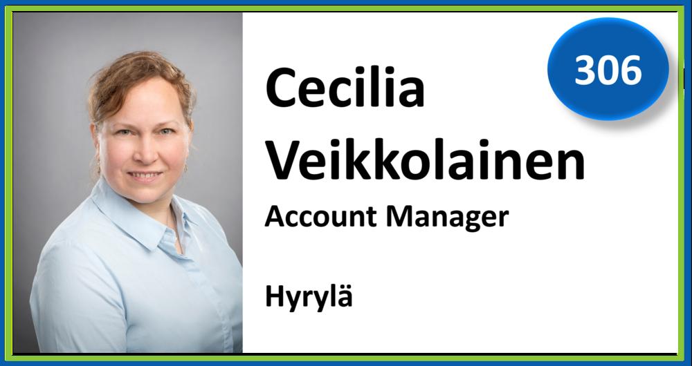 306, Cecilia Veikkolainen, Account Manager, Hyrylä