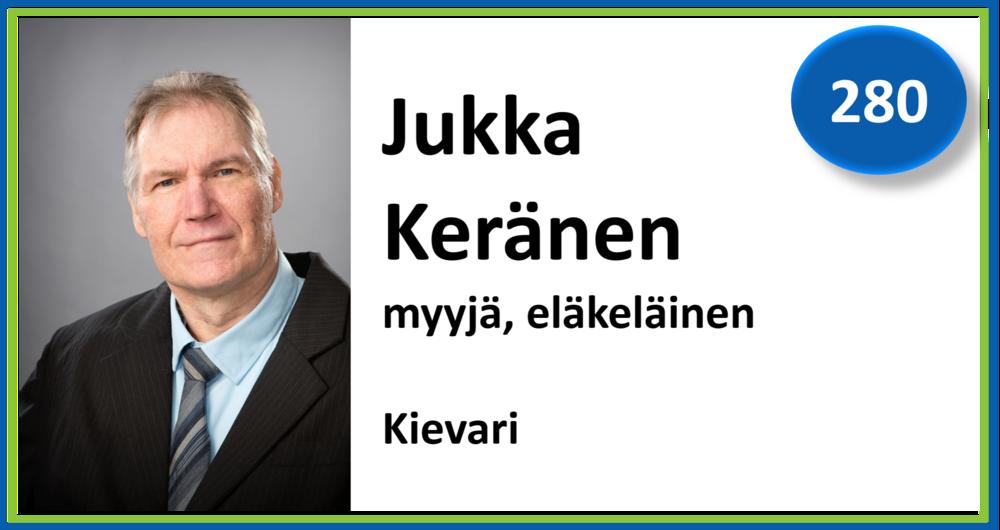 280, Jukka Keränen, myyjä, eläkeläinen, Kievari