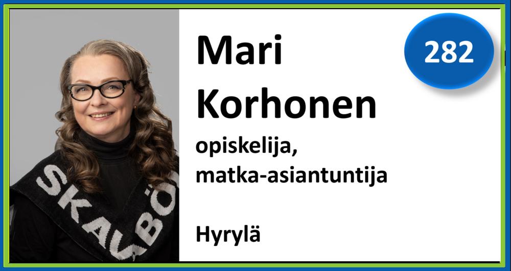 282, Mari Korhonen, opiskelija, matka-asiantuntija, Hyrylä