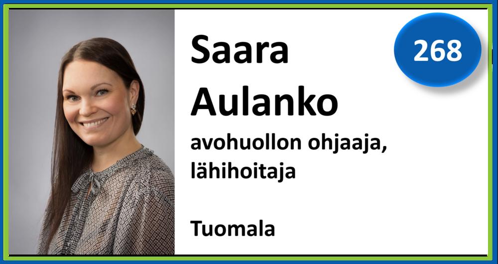 268, Saara Aulanko, avohuollon ohjaaja, Tuomala