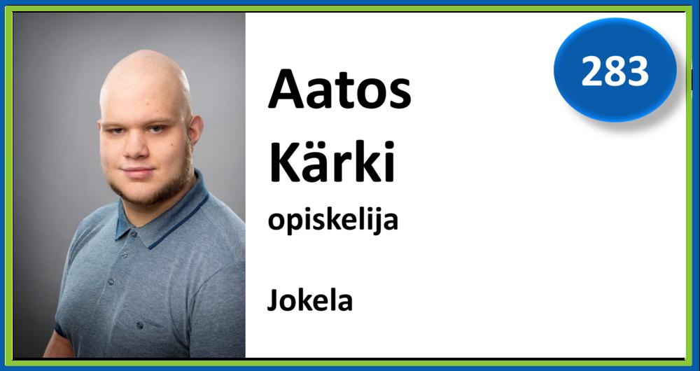 283, Aatos Kärki, opiskelija, Jokela