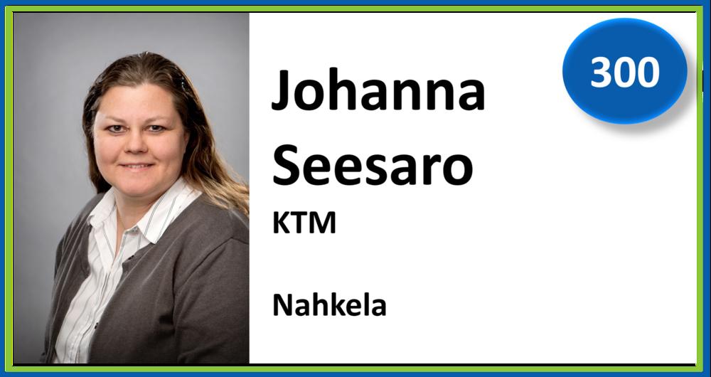 300, Johanna Seesaro, KTM, Nahkela