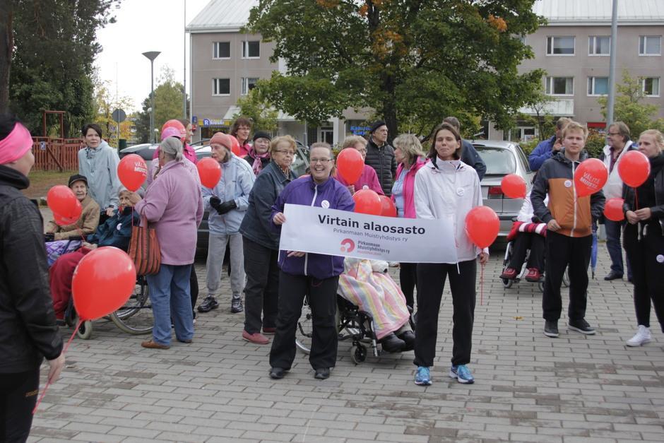 Virtain paikallisosaston kolmas Muistikävelytapahtuma perjantaina 25.9.2015.