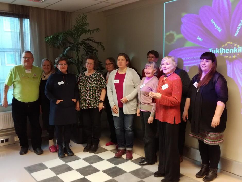 Tammikuussa 2020 Tampereella valmistui iloinen joukko uusia tukihenkilöitä.