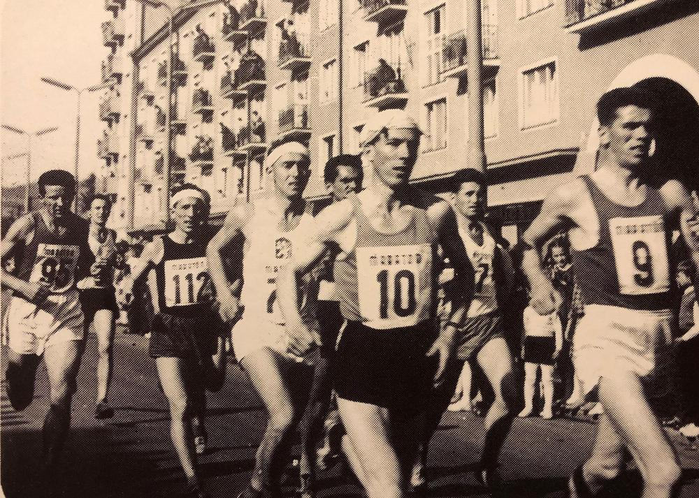 Rajun Arvi Sikiö Kosicen maratonila vuonna 1963.