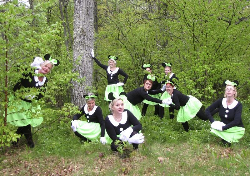 Ankkalinnan kaunottaret   Ruissalon metsässä keväällä 2011
