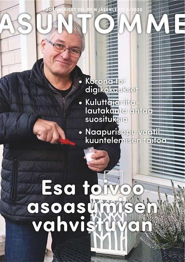 Vuoden 2020 viimeisen Asuntomme-lehden kansikuva.