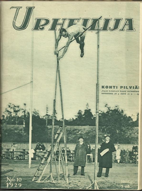 Joppe Lindrothin ensimmäinen 4 metrin ylitys päätyi myös Urheilija-lehden kanteen.