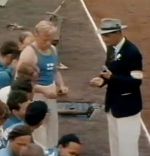 Erkki Kataja voitti hopeaa Lontoon Olympiakisoissa 1948.