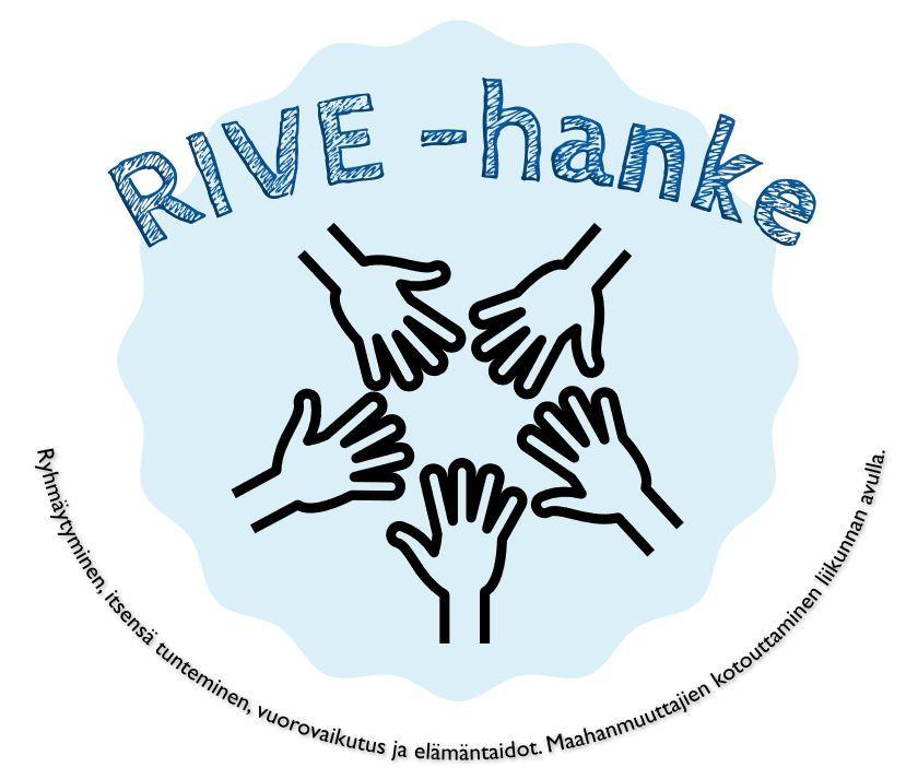 Rive-hankkeen logo.