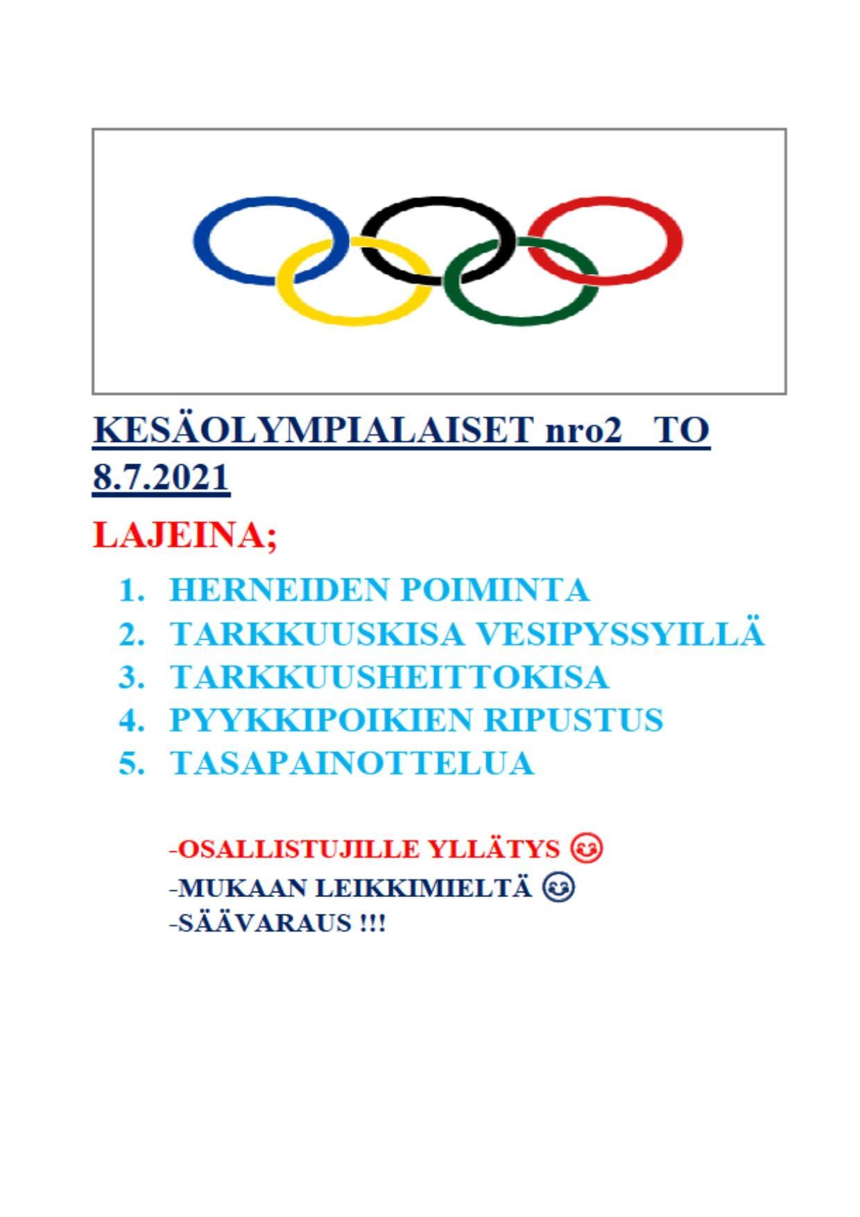Kuvassa Olympiarenkaat