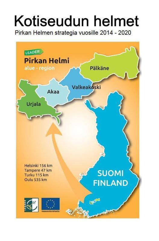 Kuva Pirkan Helmen strategian kannesta.