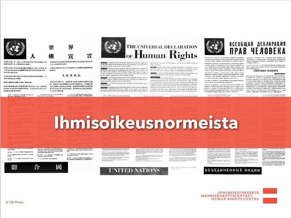 Siirry katsomaan video ihmisoikeusnormeista.