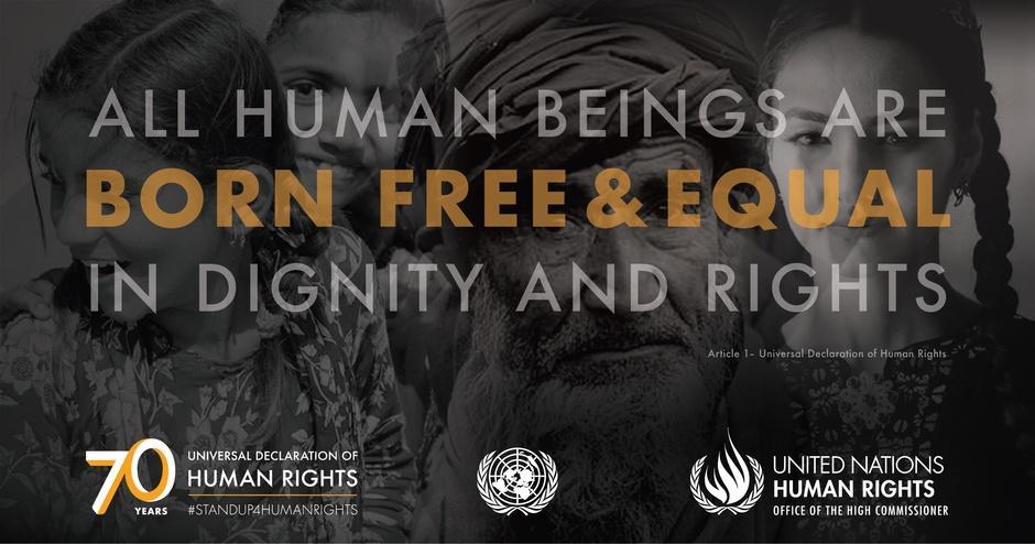 Ihmisoikeusjulistus 70 vuotta (2018).
