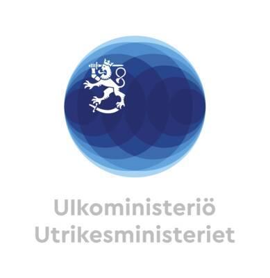 Suomen Ulkoministeriön logo.