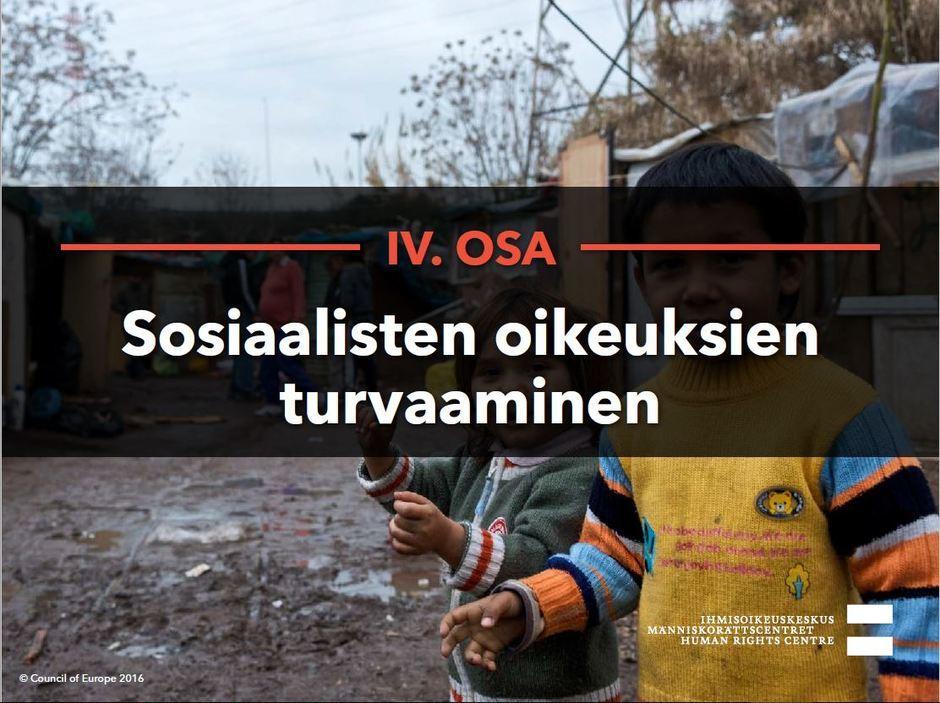 Siirry katsomaan video Sosiaalisten oikeuksien turvaaminen.