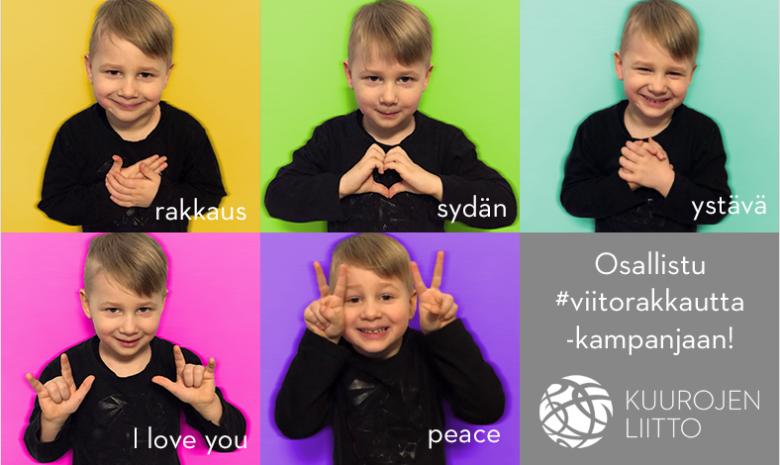 Kuurojen Liiton #viitorakkautta -kampanja.