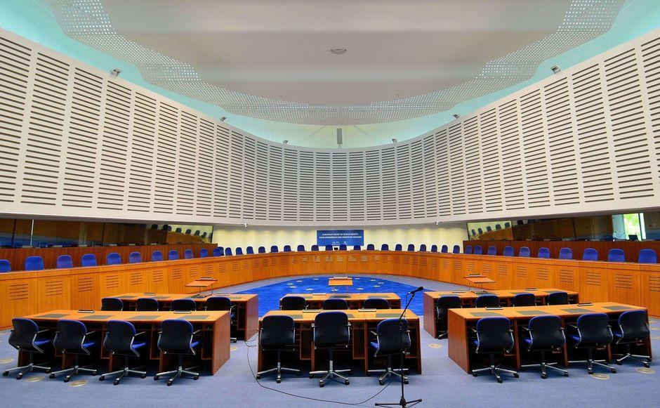 Kuva Euroopan ihmisoikeustuomioistuimen salista.