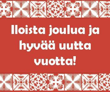 Iloista joulua ja hyvää uutta vuotta!