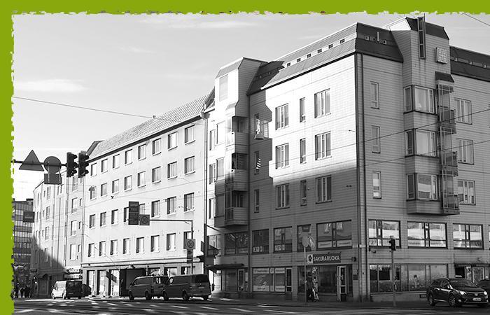 Asuinrakennus Sörnäisissä