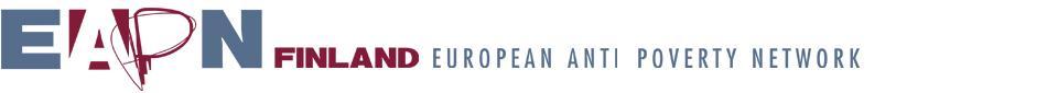 EAPN-Finland köyhyyden vastainen verkosto -logo.