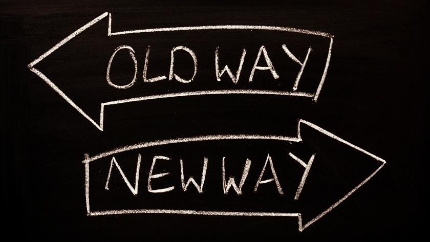 Old way - new way -teksti.